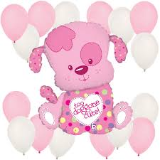 girl baby shower puppy girl baby shower balloon kit bigdotofhappiness