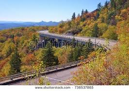 blue ridge parkway autumn linn cove stock photo 87310123