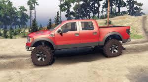 Ford Raptor Red - raptor svt v1 2 red gray for spin tires