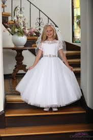 catholic communion dresses communion dress with lace illusion neckline catholic