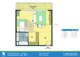 floor plan studio type al reef downtown al reef village