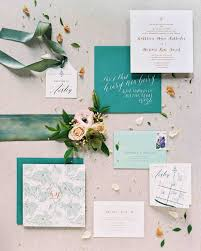 green wedding invitations the freshest wedding invitations martha stewart weddings