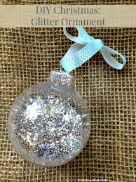 12 days of diy ornaments glitter ornament diy