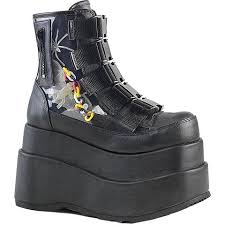 womens steel toe boots size 11 demonia shoes creepers platforms boots heels footwear
