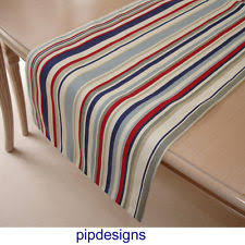 blue and white table runner unbranded nautical table runners ebay