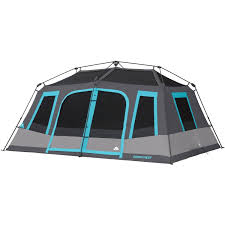 Tent Cabin by Ozark Trail 10 Person Dark Rest Instant Cabin Tent Walmart Com