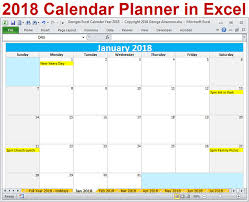 2018 weekly calendars templates excels printable templates