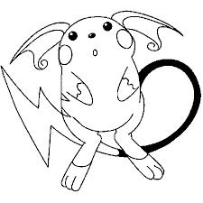 coloriage de pokemon raichu