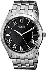 mens stainless steel bracelet watches images Guess men 39 s stainless steel casual bracelet watch jpg