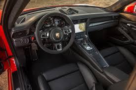 2017 porsche 911 turbo s interior view motor trend