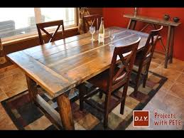 how to make a rustic kitchen table rustic dining table diy youtube