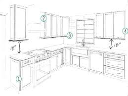 Kitchen Cabinet Design Layout by Kitchen Cabinet Layout Dimensions Dzqxh Com