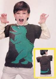 knitting pattern dinosaur jumper dinosaur jumper knitting pattern pdf vintage by ecbcrafts on etsy