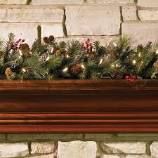 the decorated cordless prelit 6 garland hammacher schlemmer