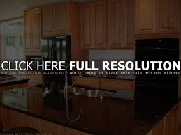 Black Appliances Kitchen Design Oak Kitchen Cabinets With Black Appliances Tehranway Decoration