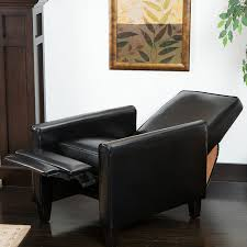 Black Living Room Furniture Amazon Com Lucas Black Leather Modern Sleek Recliner Club Chair