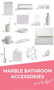 Bathroom Accessories by 15 Budget Friendly Marble Bathroom Accessories The Sweetest Digs