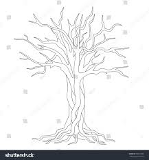tangled coloring book hand drawn silhouette tangled tree roots stock vector 506919988