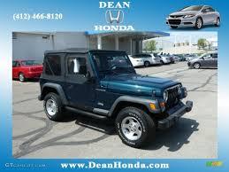 jeep wrangler grey interior 1998 emerald green pearl jeep wrangler se 4x4 80351167 gtcarlot
