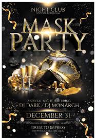 mask party 17 cool mask party flyer templates design freebies