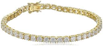 bracelet tennis zirconia images 18k yellow gold plated silver round cut 6mm cubic jpg