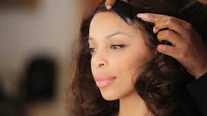 how to put on a lace front wig black hairstyles youtube