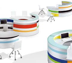 Circular Reception Desk Twist Circular Reception Desks Designed By Lorenzo Marcolin From