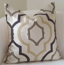 brown pillow cover neutral pillow throw pillow trellis pillow