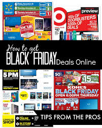 black friday deals expected starting times for sales