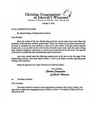 Victim Witness Coordinator Letter Letters From The Governing Body Of Jehovah U0027s Witnesses November 2010