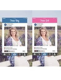 photo booth frames instagram photo booth frames digital file gender reveal party