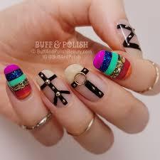 mardi gras nail pride rainbow mardi gras nails buff