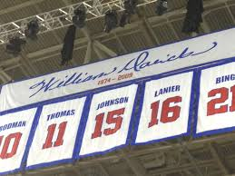 detroit pistons honor former owner bill davidson with banner in