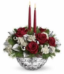 teleflora u0027s sparkle of christmas centerpiece in edison nj