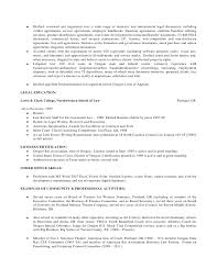 contracts attorney resume