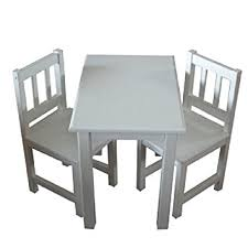 childrens wooden table and chairs white wooden table 2 chairs for children amazon co uk toys games