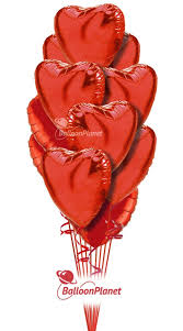heart balloon bouquet simply s hearts balloon bouquet 12 heart balloons
