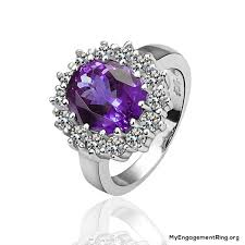 purple diamond engagement rings engagement wedding rings