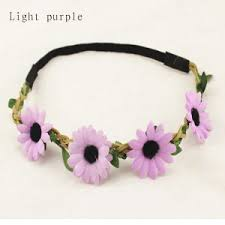 flower band china elastic flower floral hair band garland 347 china