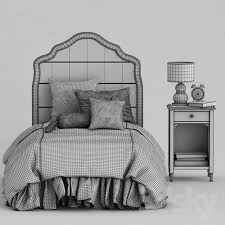 Juliette Bed Pottery Barn 3d Models Bed Baby Bed And Nightstand Juliette Pottery Barn Kids