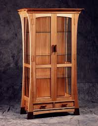 Curio Cabinet With Glass Doors Curio Cabinet A And With Glass Doors For Decor 7