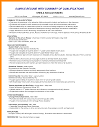 Resume Skills Summary Examples Examples Of Summary Of Qualifications For Resume Sample Bpo Cv