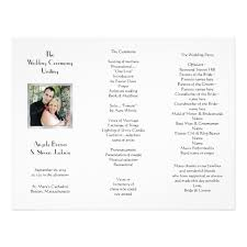 tri fold program white tri fold photo template wedding program zazzle