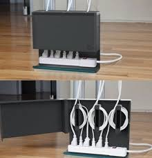 how to organize wires behind desk what a beautiful way to hide electrical cords cleaning tips