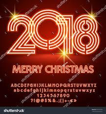 vector light merry 2018 greeting stock vector 735751528