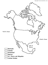 North Anerica Map North America Map Coloring Page Outline Map Of Usa Canada And
