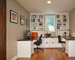 Home Office With Two Desks Two Person Desk Design Ideas For Your Home Office Workspace
