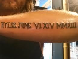 Numerals On Forearm Numerals And Baby S Name On Forearm Numerals Tattoos