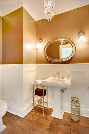 Plain Bathrooms View In Gallery Two Toned Walls Update A Plain Bathroom Gold Tone