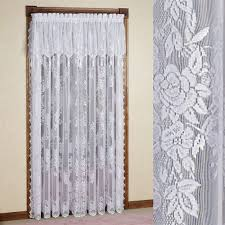 How To Sew A Curtain Valance Easy Style Carly Lace Curtain Panel With Attached Valance